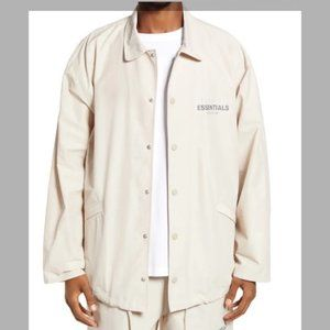 Fear of God Essentials Coaches Jacket STONE LARGE